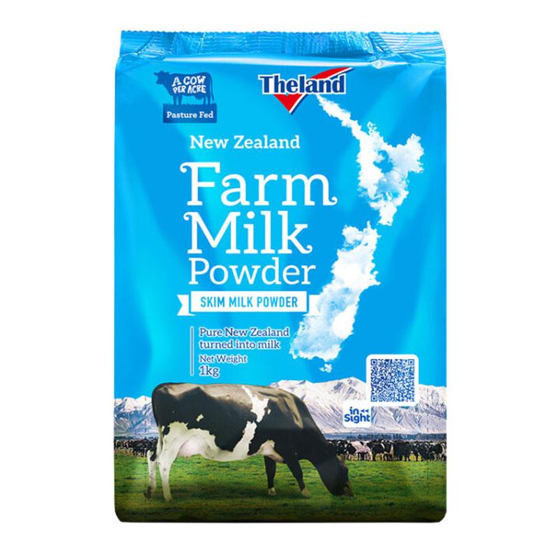 紐仕蘭 Theland 高鈣脫脂成人奶粉 1kg*6袋 (程光物流)