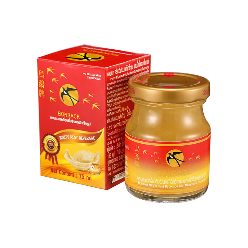 Bonback 烏雞牌 蜂蜜即食燕窩75ml*6瓶裝