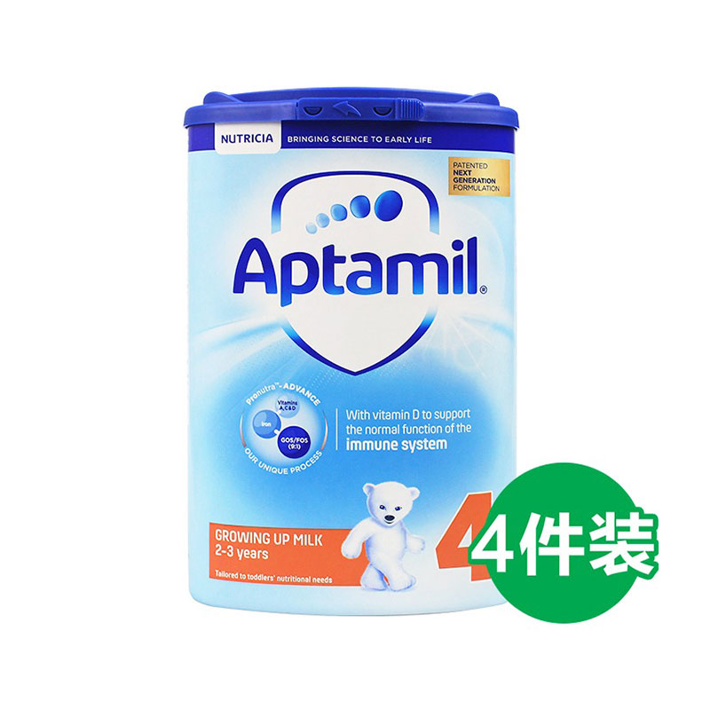 Aptamil 愛他美 嬰兒配方奶粉 4段 800g*4罐 2歲+