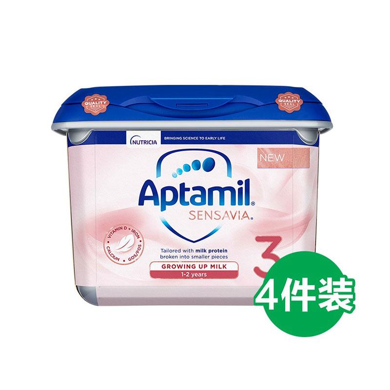 Aptamil 愛他美 Sensavia粉金版  玫瑰鉑金低敏適度水解奶粉 3段 1-2歲  800g*4罐
