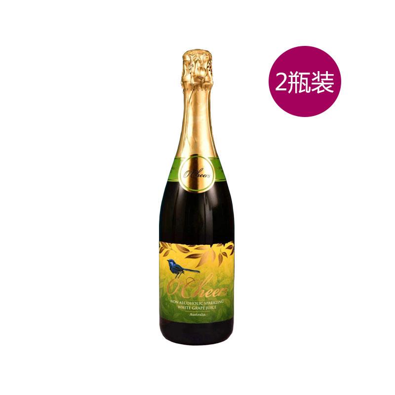 O'Cheers 澳莱喜悦无醇起泡葡萄汁  750ML*2 (白)两瓶