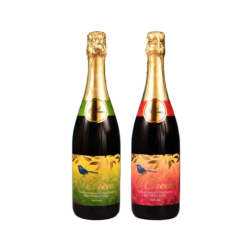 O'Cheers 澳萊喜悅無醇起泡葡萄汁  750ML*2 (紅+白)兩瓶