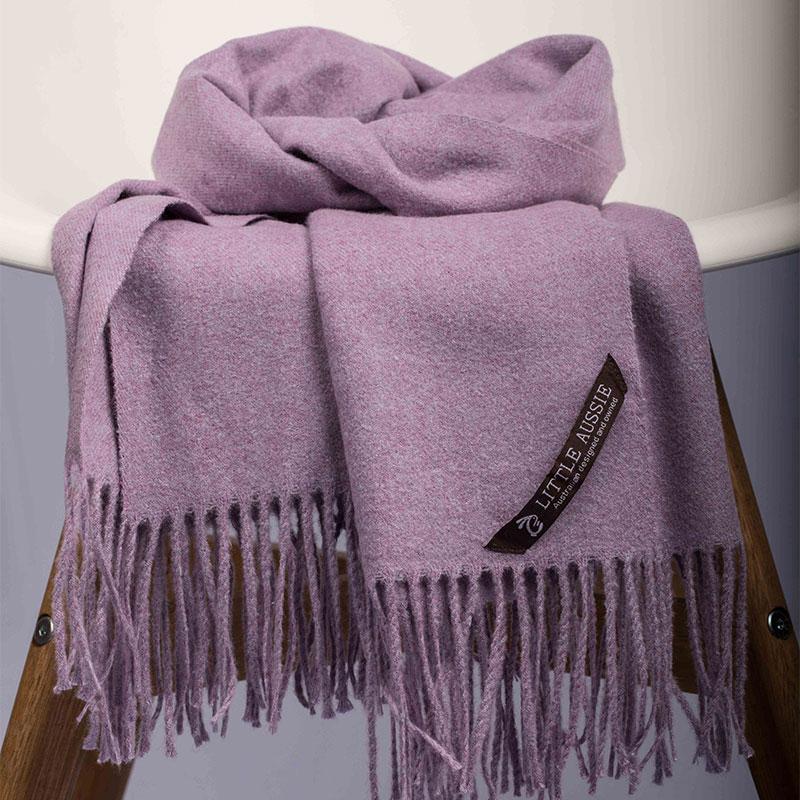 LITTLE AUSSIE 羊毛围巾 浅紫色 200*70cm