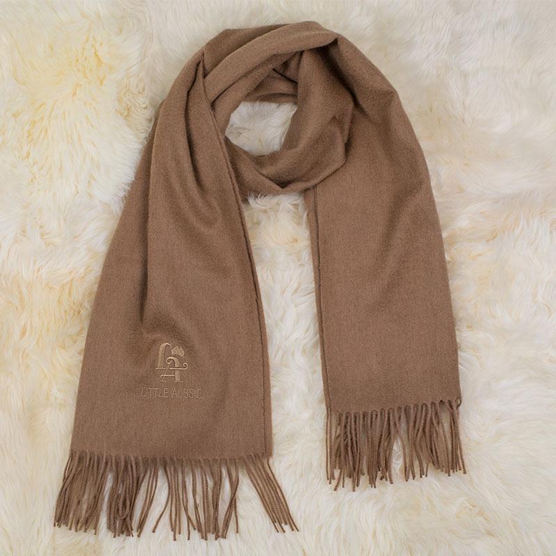 LITTLE AUSSIE 駝絨圍巾 駝色 180*30cm