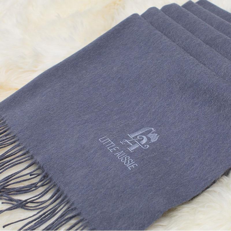 LITTLE AUSSIE 駝絨圍巾 灰色 200*70cm