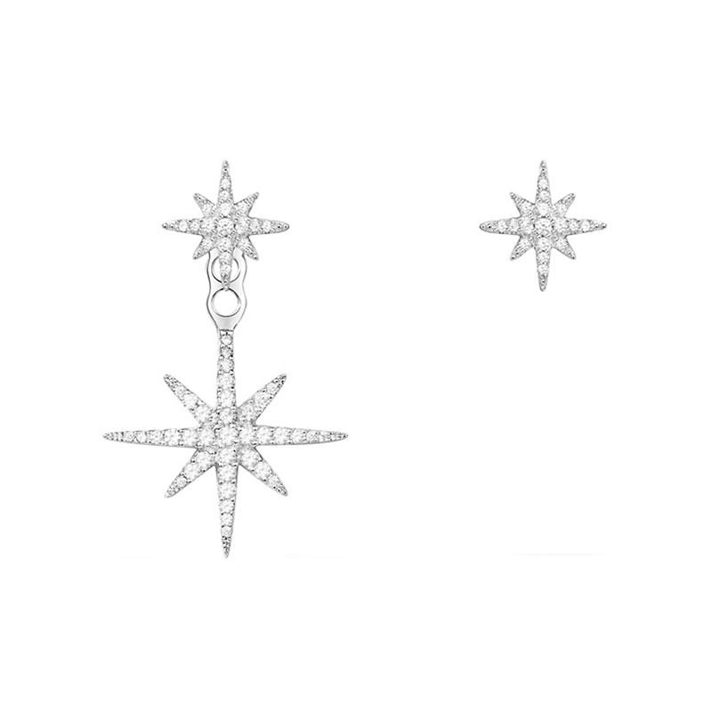 APM 不對稱流星耳釘 經典銀流星 AE10596OX 帶盒子