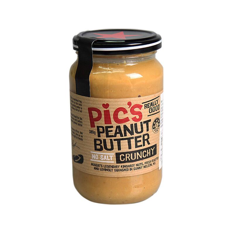 Pic's 皮卡思 無鹽顆粒花生醬 380g*2瓶