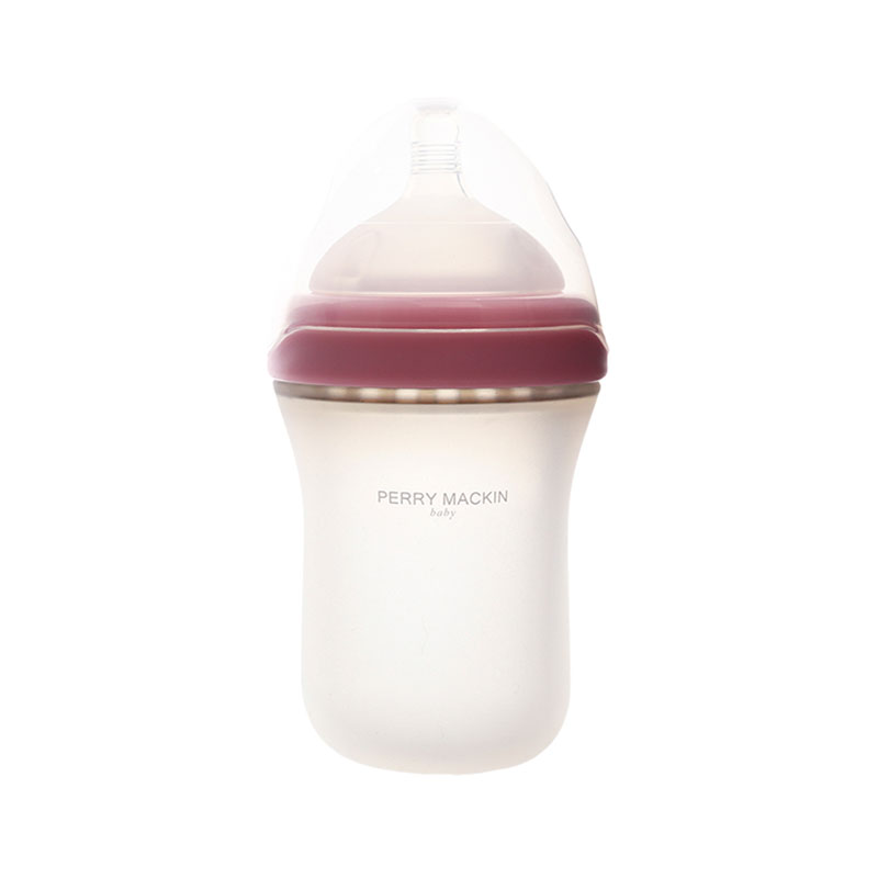 Perry Mackin 硅膠奶瓶 260ml 粉色