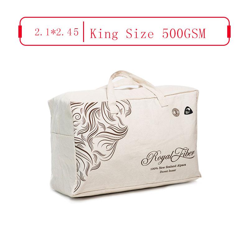 Royal Fiber 冬季駝羊被 500GSM 防雨面料 King Size 2.1*2.45