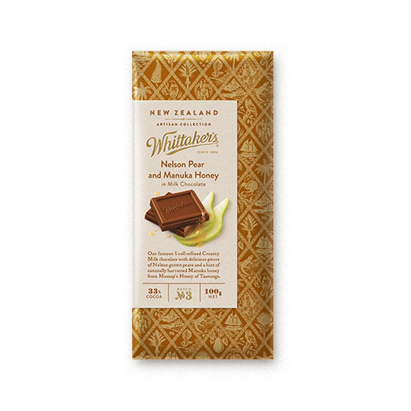 Whittakers 惠特克 梨和麥盧卡蜂蜜味巧克力 100g