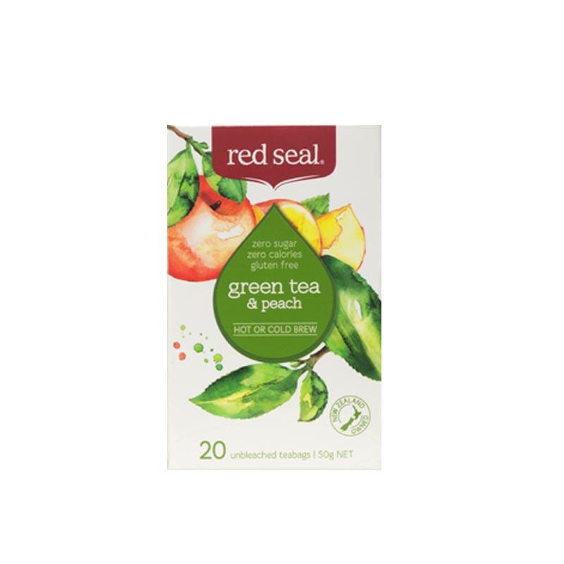 RED SEAL 紅印 天然有機桃子綠茶 20袋 無糖分卡路里