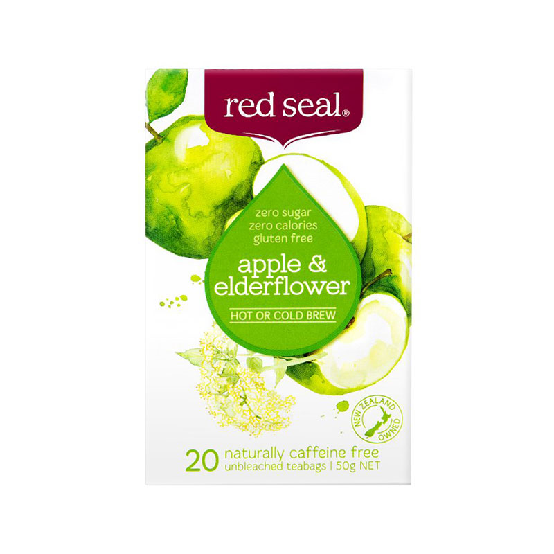 RED SEAL 红印 天然有机苹果黑接骨木茶 20袋 无糖分卡路里
