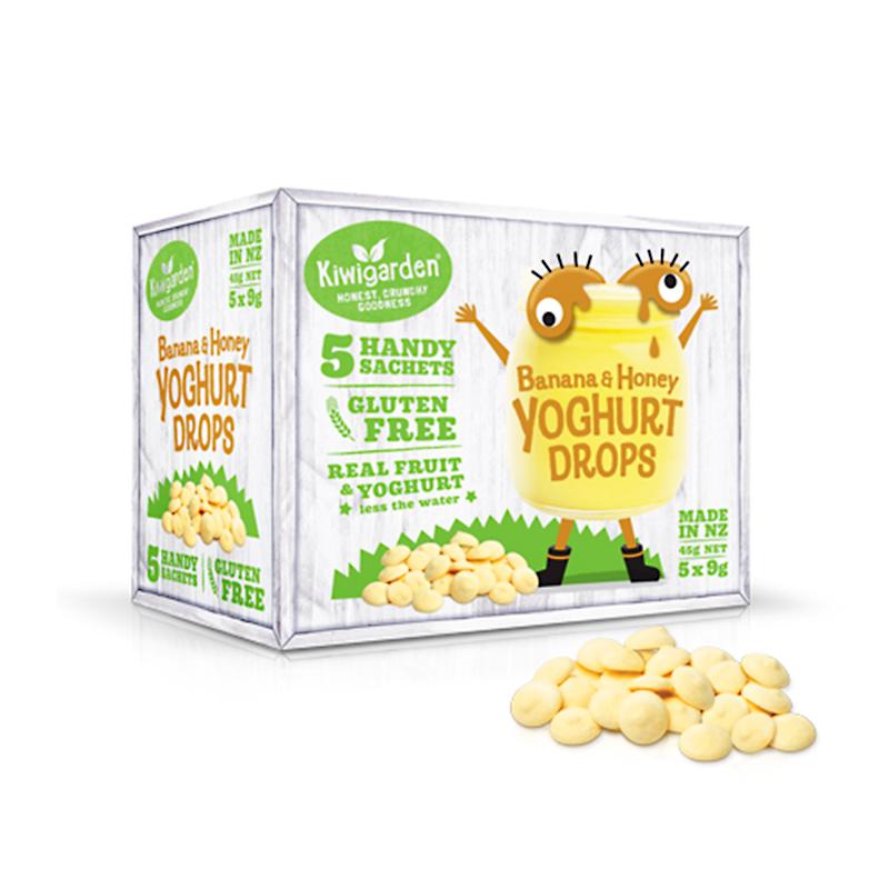 Kiwi Garden 盒装酸奶溶豆宝宝零食 无添加健康辅食 香蕉蜂蜜味 5包 45g