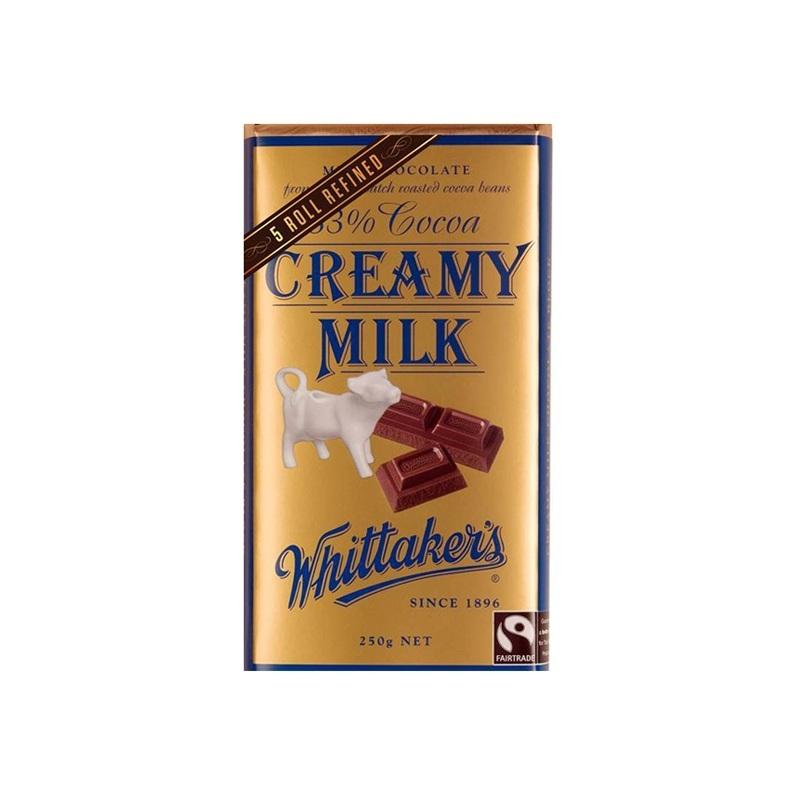 Whittakers 惠特克巧克力 天然有機牛奶香濃巧克力 250克