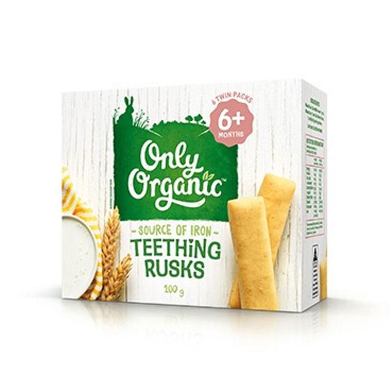 Only Organic 嬰幼兒磨牙面包干 6個月以上嬰幼兒 100g