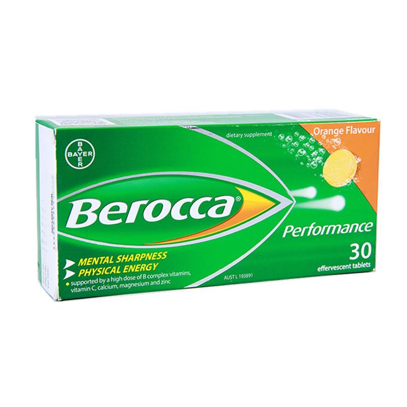 Berocca Performance 香橙味復合維生素+鈣鎂鋅泡騰片 30片