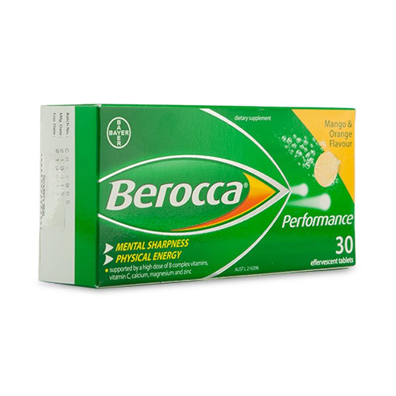 Berocca Performance 芒果香橙味復合維生素+鈣鎂鋅泡騰片 30片