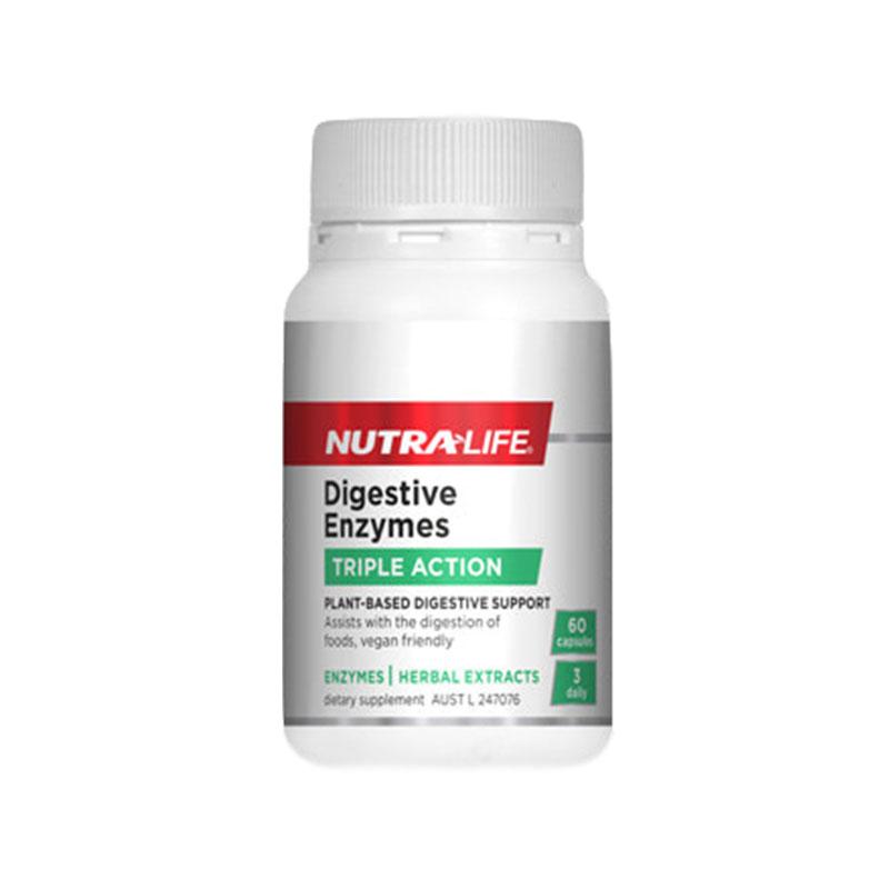 Nutralife 紐樂 植物消化酶酵素 60粒