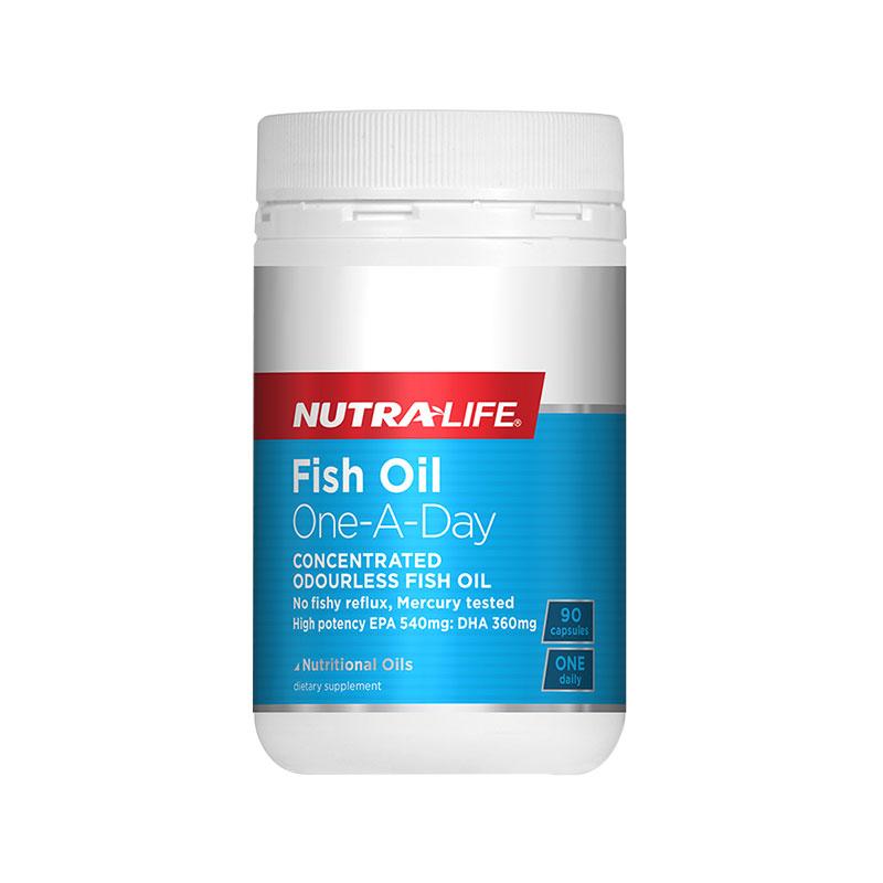 Nutralife 紐樂 魚油濃縮無味日服型 90粒 三倍EPA&DHA含量