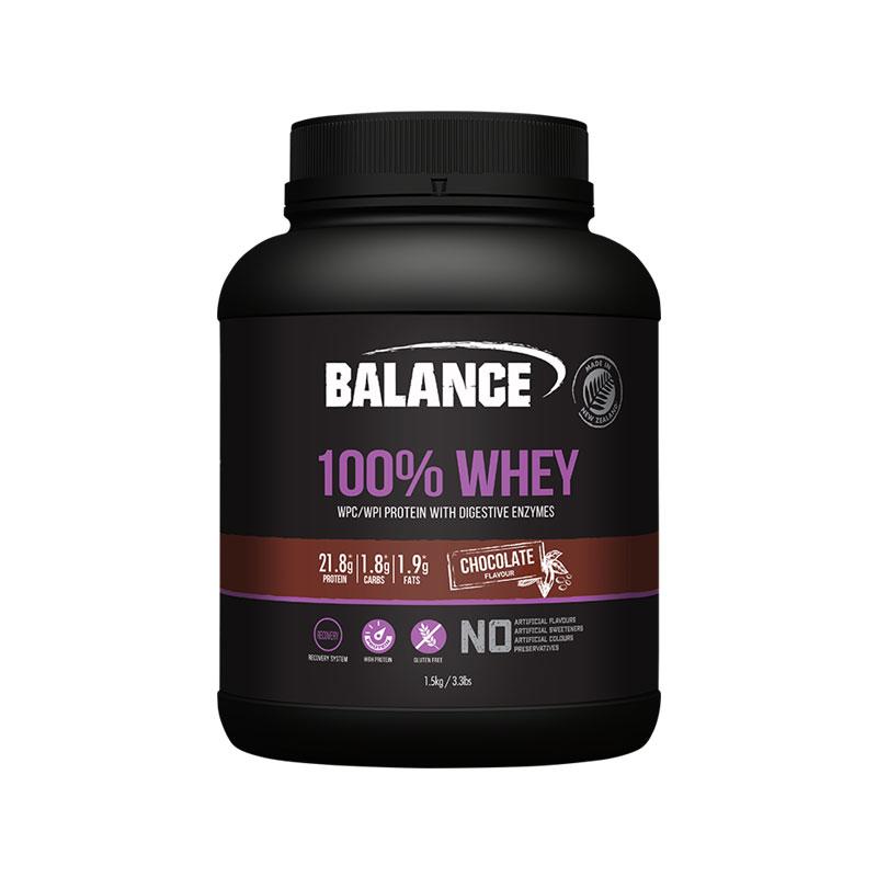 Balance 100%天然純乳清蛋白粉 巧克力味 1.5KG