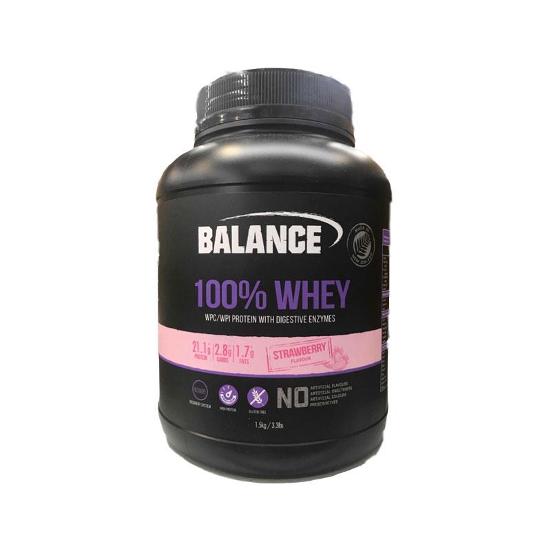 Balance 100%乳清蛋白粉 草莓蛋糕味 1.5KG