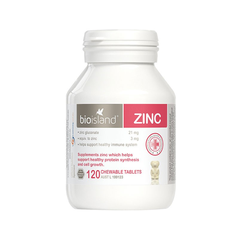 bioisland 嬰幼兒補鋅咀嚼片 120片 增強免疫力 促進食欲 維護寶寶健康