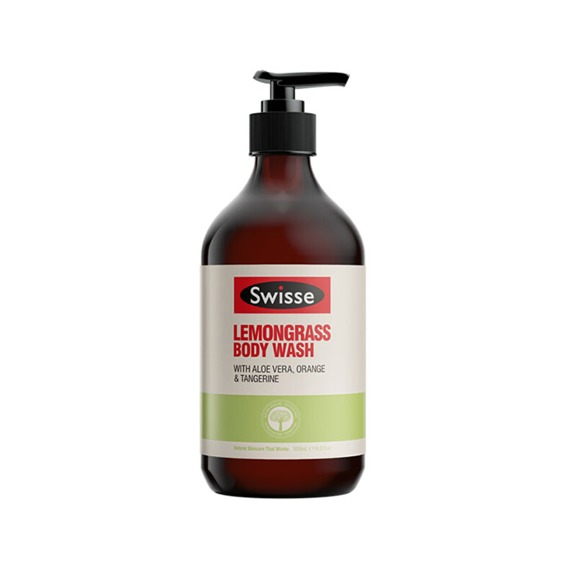 Swisse 檸檬草沐浴露 500ml 提神滋養潤膚純植物孕婦可用保濕