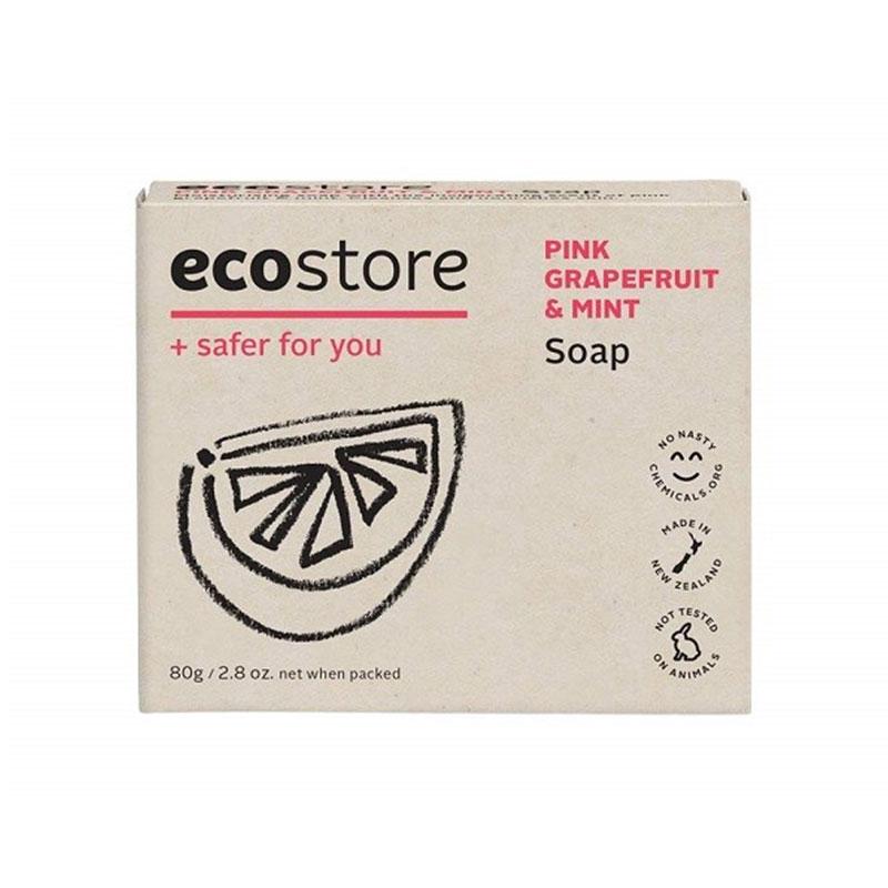 ecostore 純天然葡萄柚&薄荷香皂80g  溫和滋養 香味天然