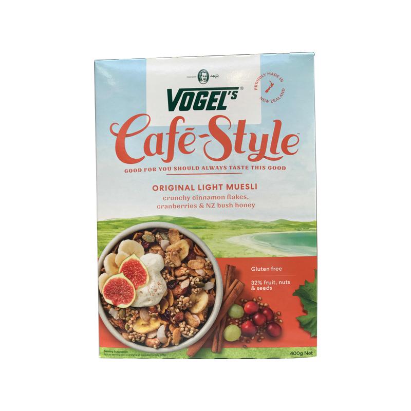 Vogel's 沃格尔 咖啡生活系列 原味 天然有机顶级即食燕麦片 400g 混合坚果和蜂蜜
