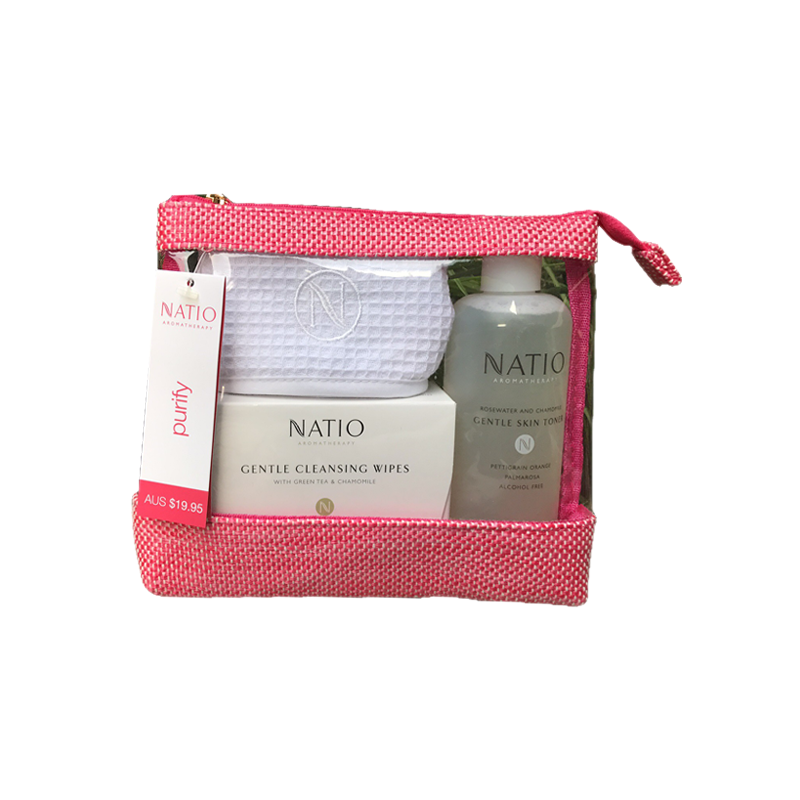Natio 限量清潔禮盒 3件套裝(爽膚水+發帶+清潔24片)