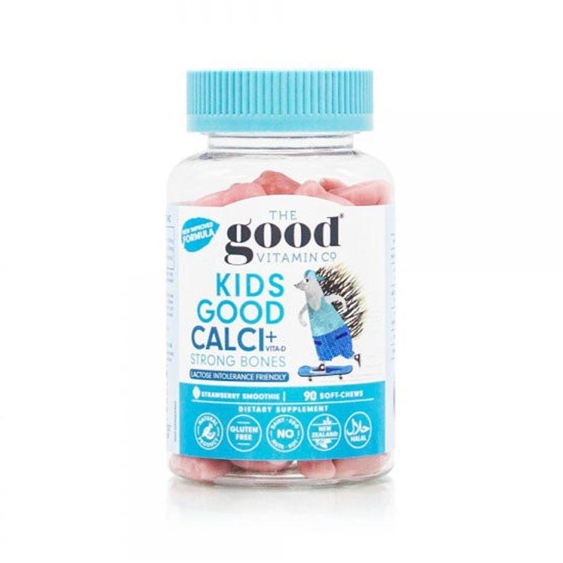 The Good Vitamin Co 兒童鈣+維D軟糖 強壯骨骼 草莓味 90粒