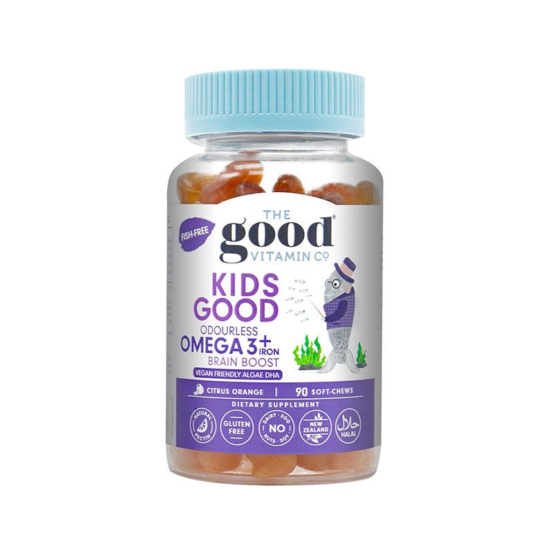 The Good Vitamin Co.無腥藻油歐米伽3+鐵 兒童咀嚼軟糖 90粒