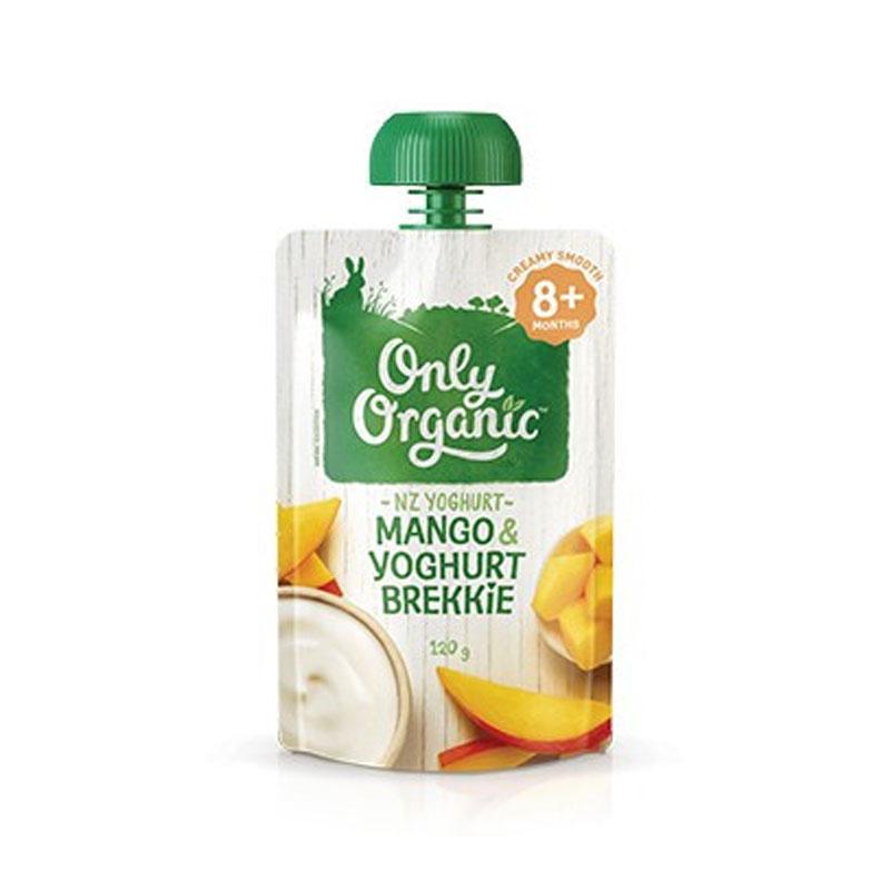 Only Organic 奧利有機芒果酸奶早餐 8個月+ 120g