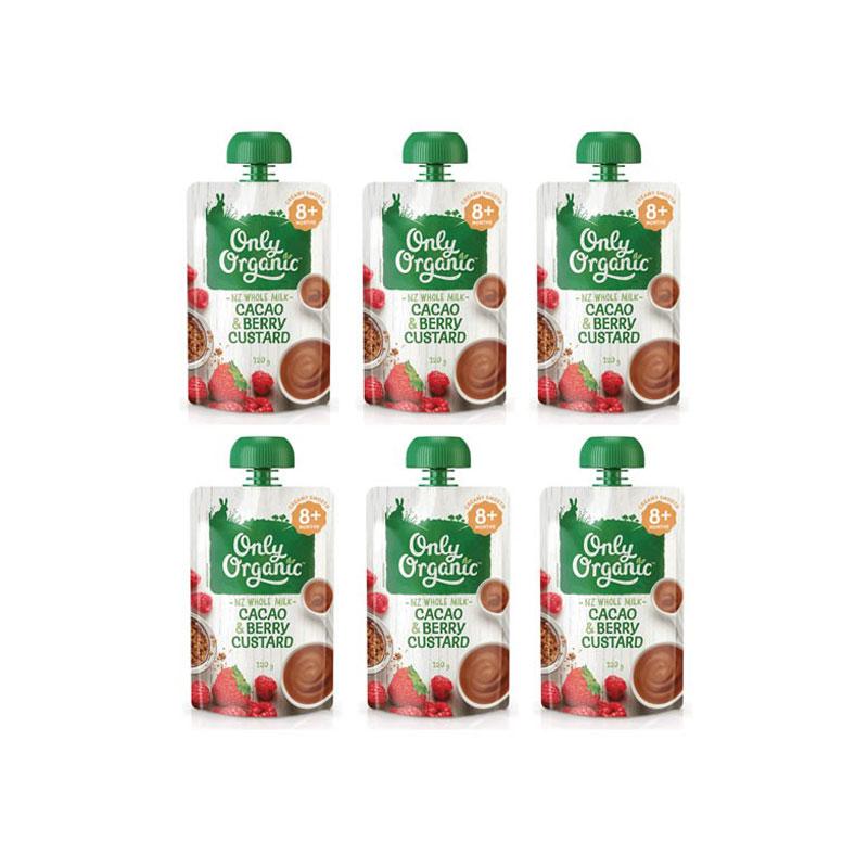 Only Organic 奧利有機可可樹莓蛋奶糊 8個月+ 120g