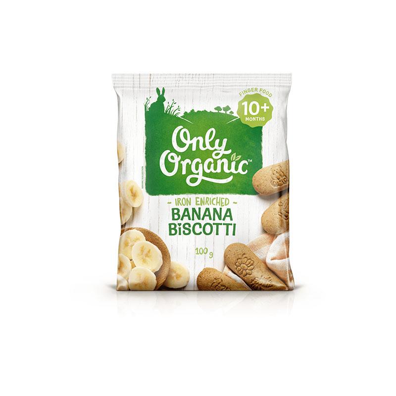 Only Organic 奧利有機香蕉意式松餅 10個月+ 100g