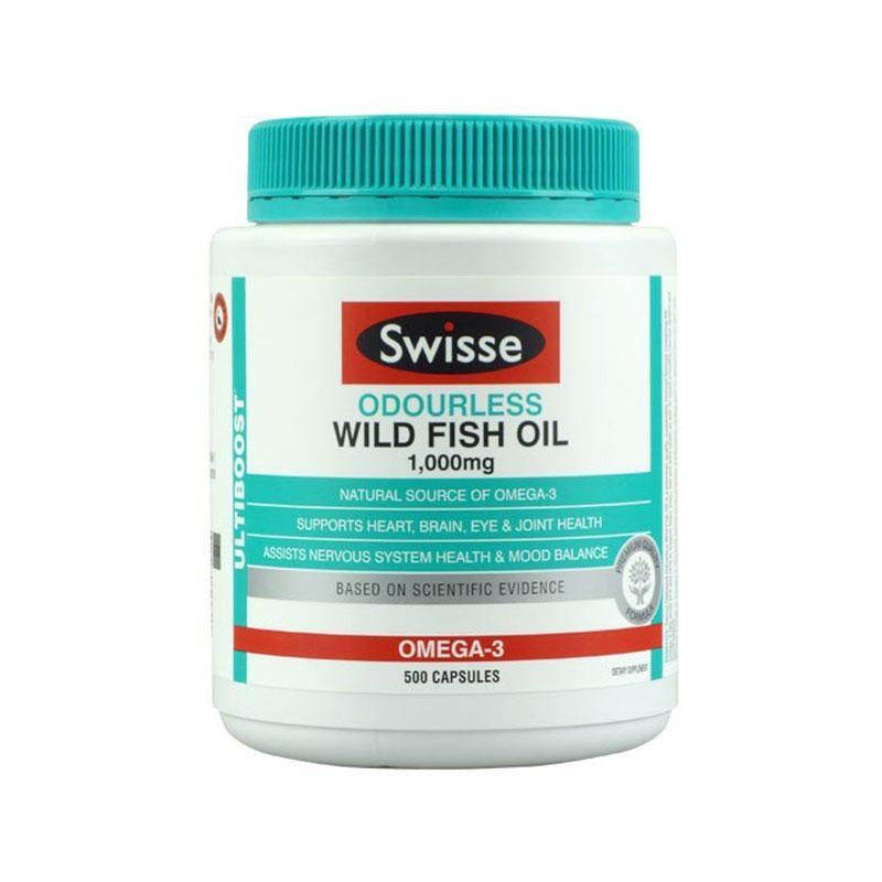 Swisse 无腥味深海鱼油软胶囊1000mg 500粒