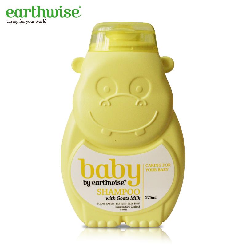 Earthwise 黃色河馬寶寶嬰兒羊奶洗發水 275ml