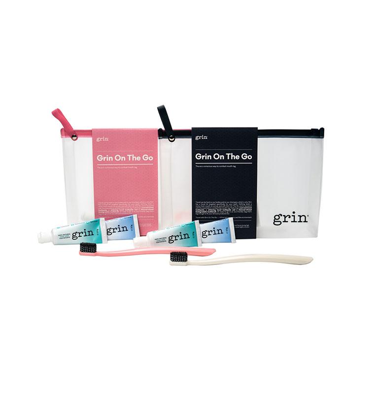 Grin 全效口腔護理旅行套裝 牙膏20g*2+牙刷*1+收納袋隨機顏色*1